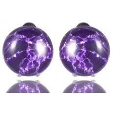 Клипсы с фиолетовым варисцитом 8028