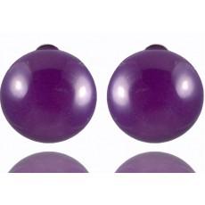 Клипсы с фиолетовым агатом 8026